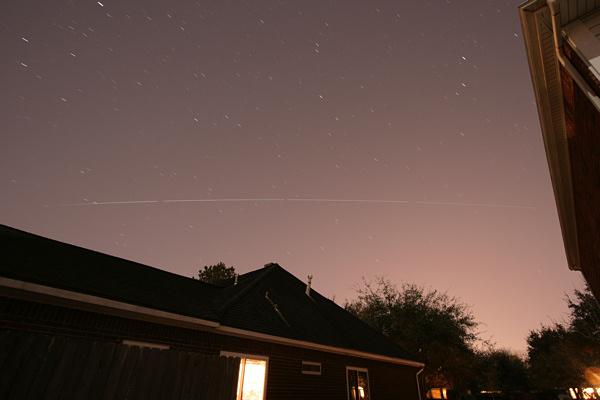 ISS in the sky