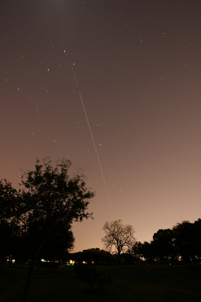International Space Station flyover